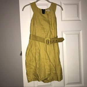🔥Mustard Yellow Belted Dress